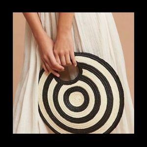 🌼Anthropologie Raffia Bullseye Bag